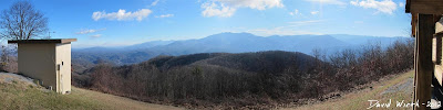 panorama view of the smokey mountain national forest