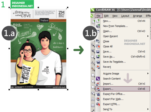 Cara Export File Cdr Ke Jpg Dan Png Zamrud Graphic