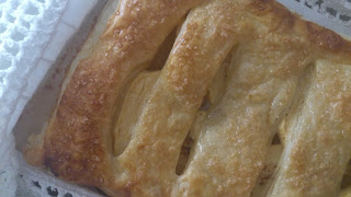 celosía trenza hojaldre cabello manzana canela lidl horno postre desayuno merienda fácil sencillo rico cuca receta