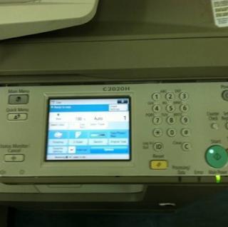 LCD Mesin Fotocopy Warna Canon IR Advance C 2020