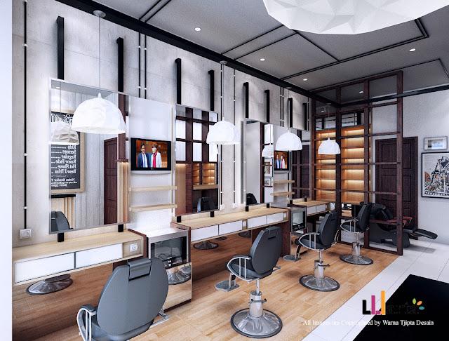Desain Salon Barbershop Bandar Lampung Tangerang