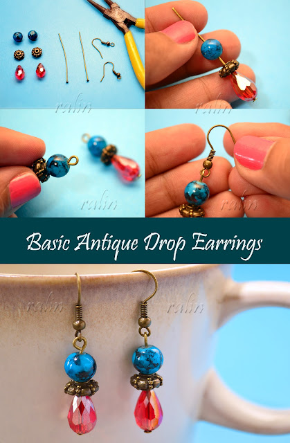 How To Make Basic Antique Drop Earrings