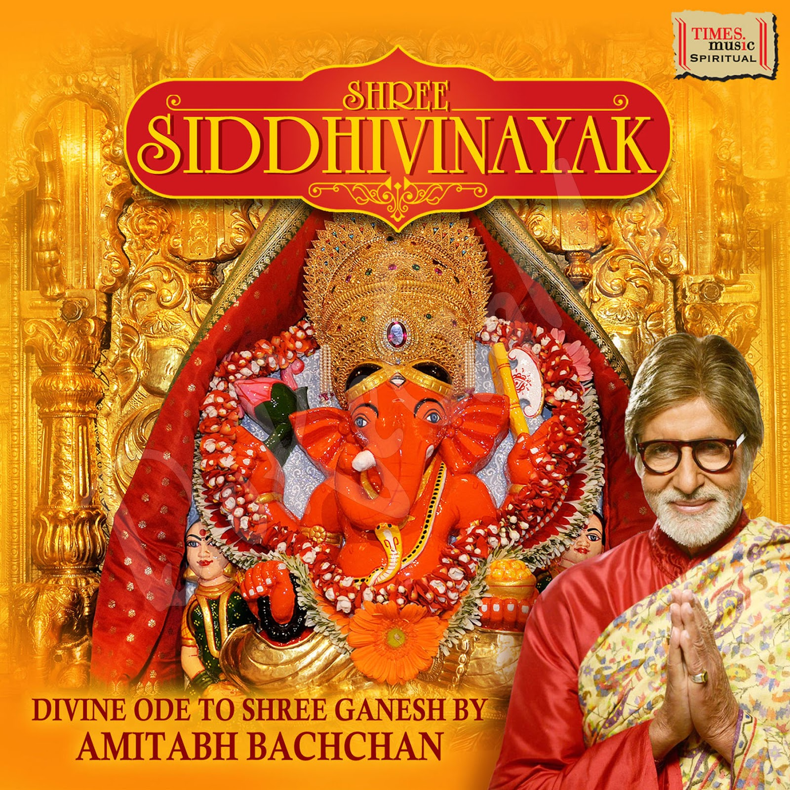 Amitabh Bachchan Shree-Siddhivinayak-2016-CD-Front-Cover-Poster-Wallpaper-HD