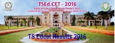 TSEdCET 2016 Results