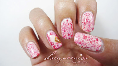 Lacqueerisa: Strawberry Ice-Cream Nails