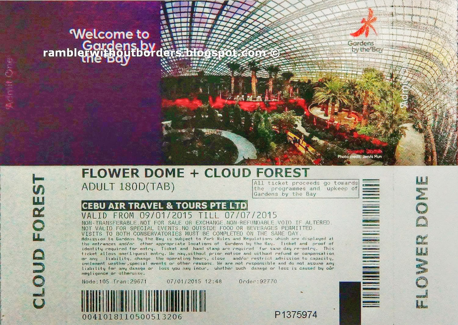 Garden By The Bay Admission Ticket plain gardenthe bay entrance fee singapore ticket intended design