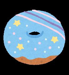 ユニコーンフードのイラスト(ドーナツ)