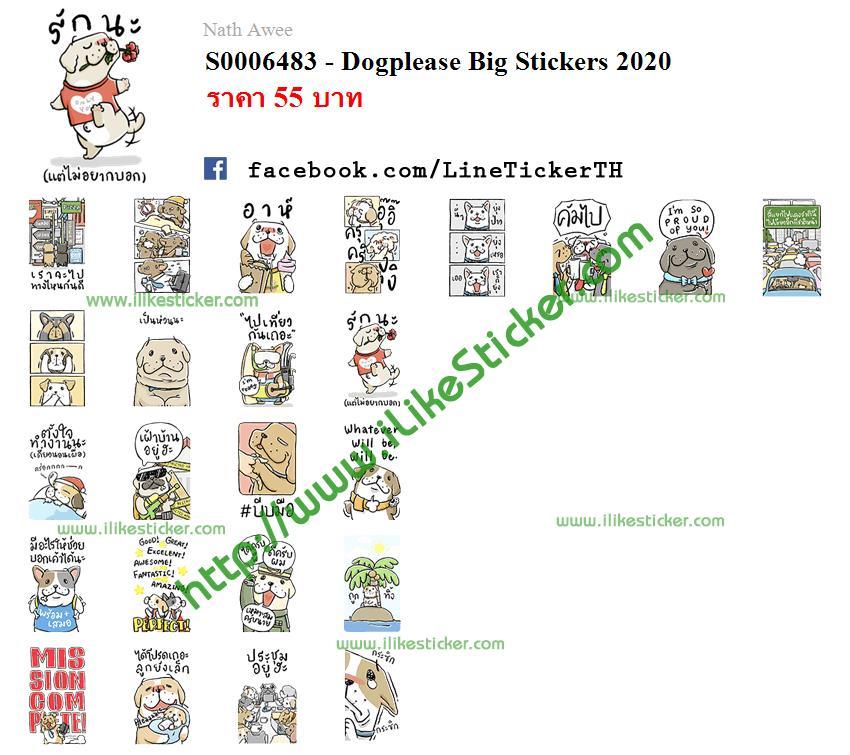 Dogplease Big Stickers 2020