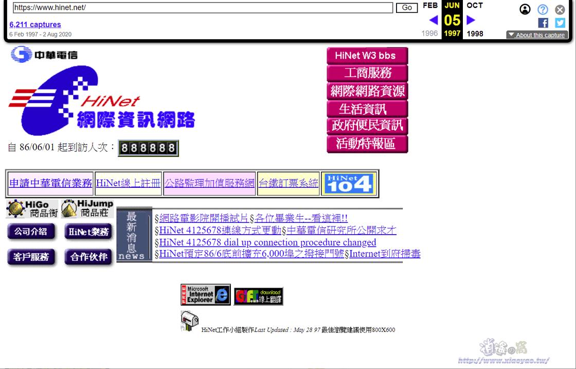 Wayback Machine 網路時光機器