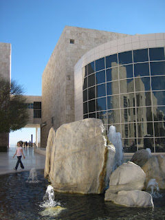 The fountain in front of the West Pavilion. The glass reflects the East Pavilion
