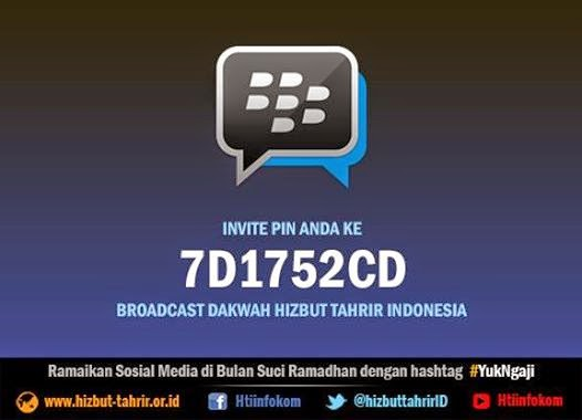 Invite Pin Broadcase Dakwah Hizbut-Tahrir Indonesia