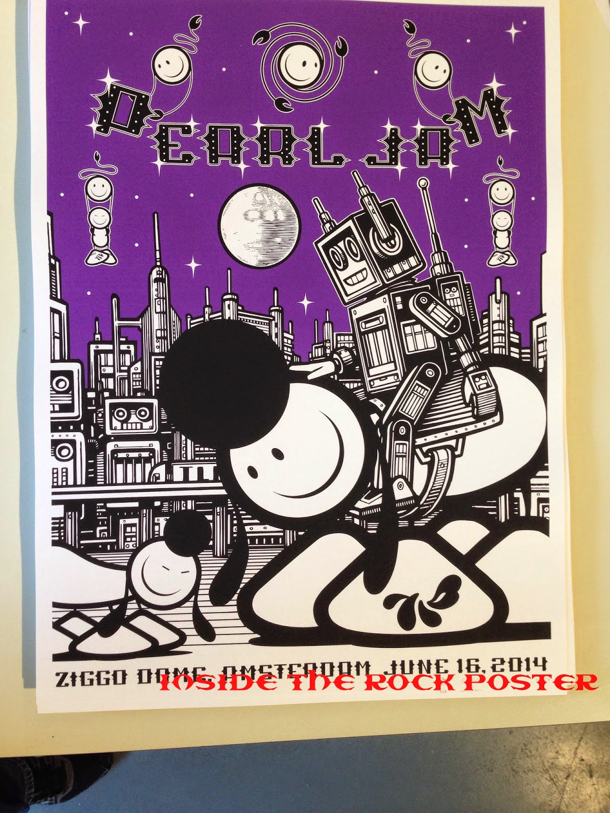 Inside The Rock Poster Frame Blog Pearl Jam Amsterdam Sit