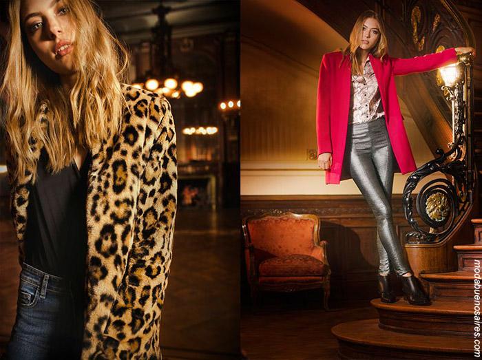 MODA INVIERNO 2019: ESTILO URBANO Y FEMENINO BY ZHOUE OTOÑO INVIERNO 2019. Tapados y sacos invierno 2019 moda mujer ropa.