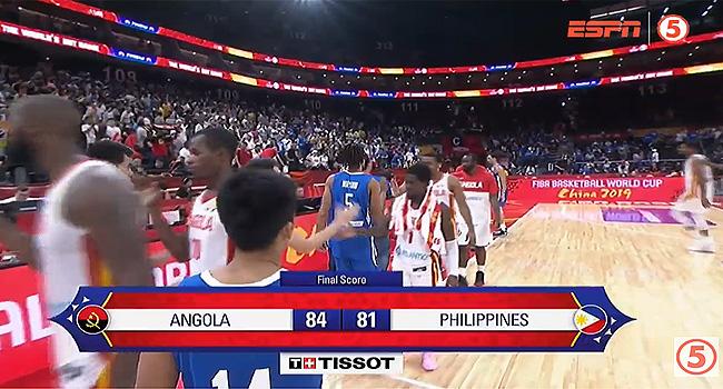 Angola def. Gilas Pilipinas, 84-81 in OT (REPLAY VIDEO) FIBA World Cup 2019
