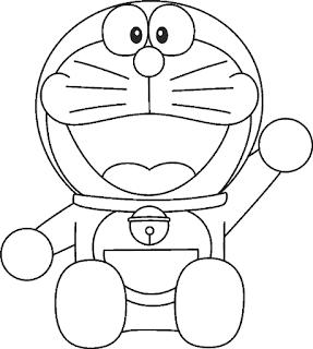 Gambar Kartun Lucu Diwarnai Belajar Mewarnai Anak Doraemon Kucing