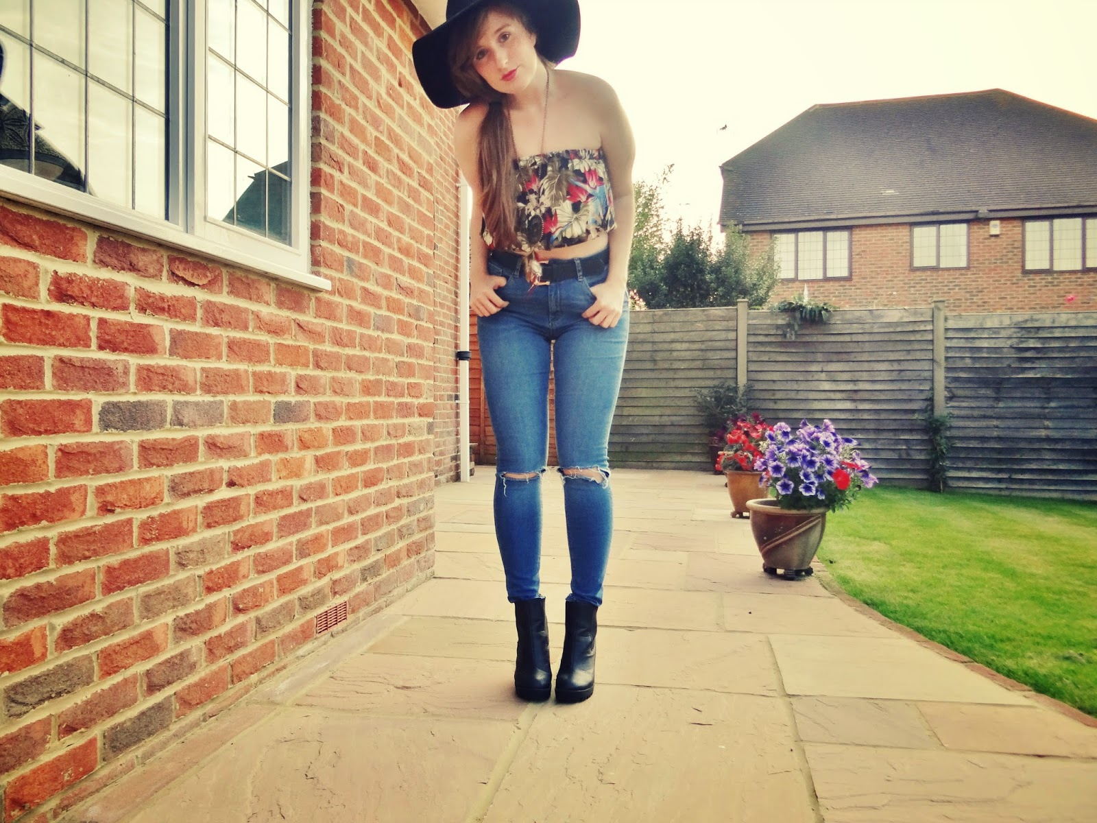 jungle crop top topshop