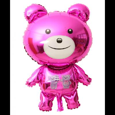 Balon Foil Karakter Teddy Bear Pink