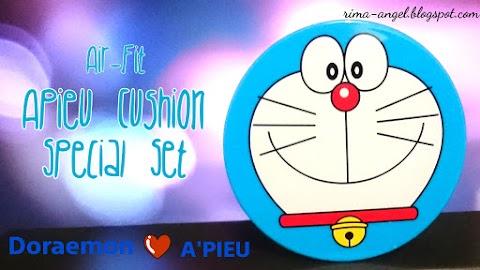 Review Apieu Cushion Special Set (Doraemon ♡ Apieu)