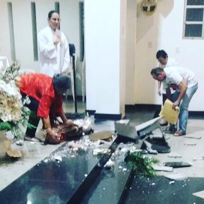 Homem invade Igreja Católica e destrói imagem no interior do Rio Grande do Norte