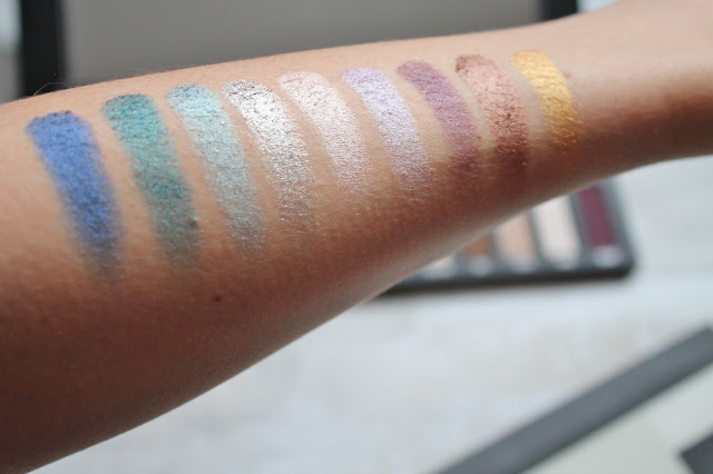 Kat Von D Metal Matte Palette Swatches - Metal Shadows