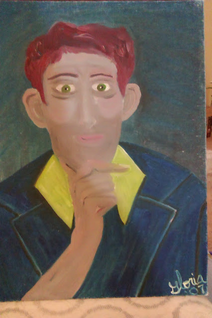 Jake the Irish Man; ethic painting, by Gloria Poole yr 2007; one of series; oils