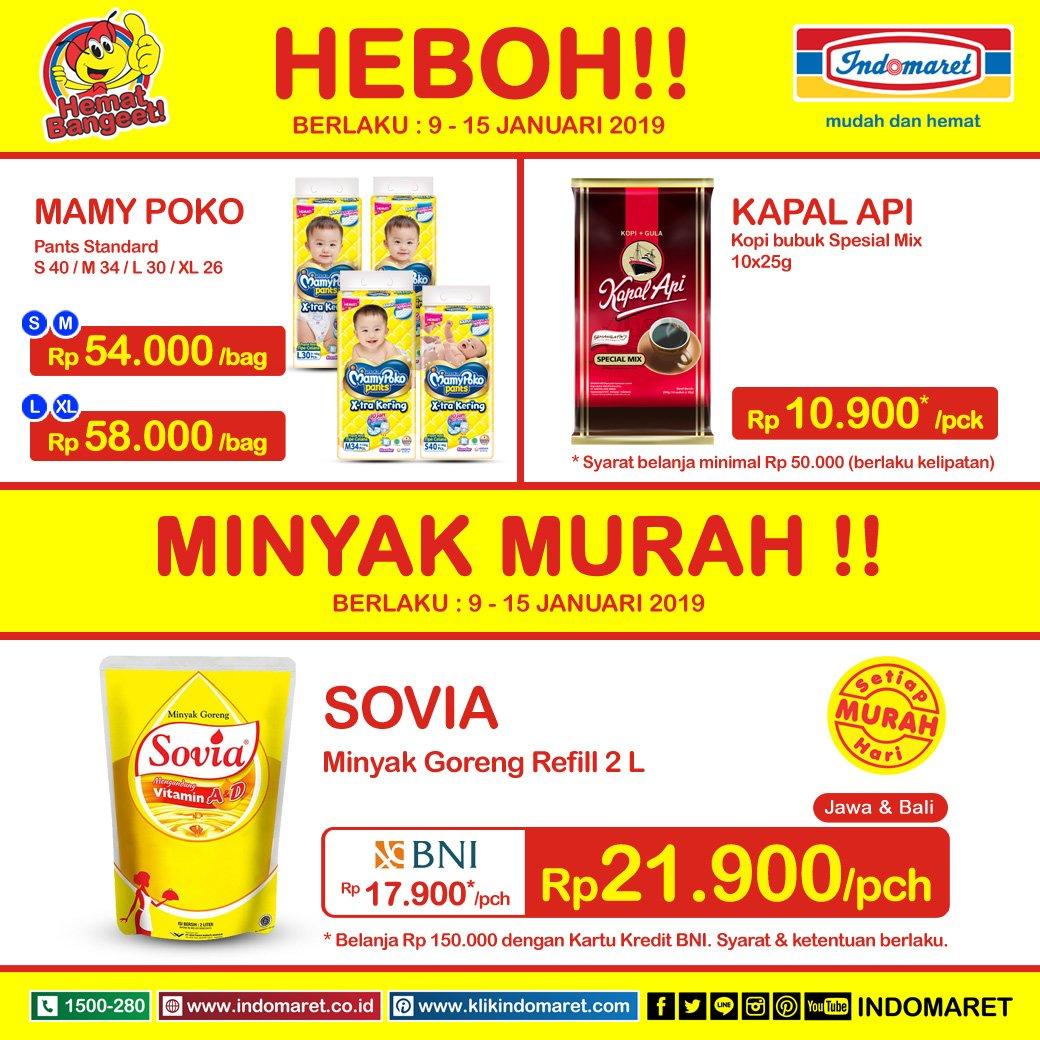 #Indomaret - Promo Harga Heboh Periode 09 - 15 Januari 2019