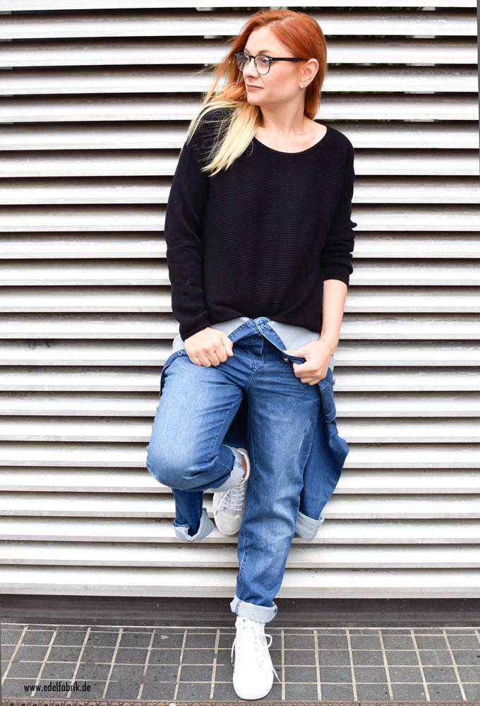 Jumpsuit und Pullover aus der Heidi Klum Kollektion für Esmara