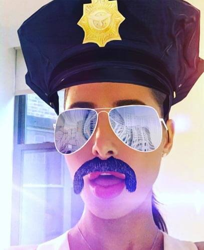 Nargis Fakhri on Snapchat photo