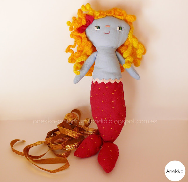 unique art doll  mermaid