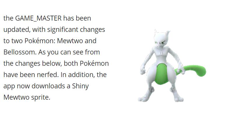Se añade sprite shiny de Mewtwo a Pokémon GO