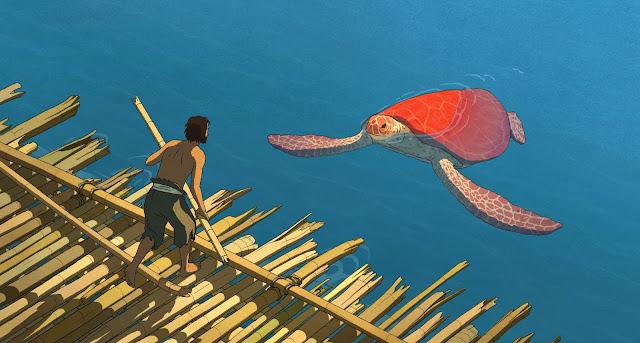 der cineast Filmblog Die Rote Schildkröte Ein Schiffbrüchiger braut sich ein Floss um von einer einsamen Insel zu entkommen doch eine rote Schilkröte hält ihn immer wieder auf