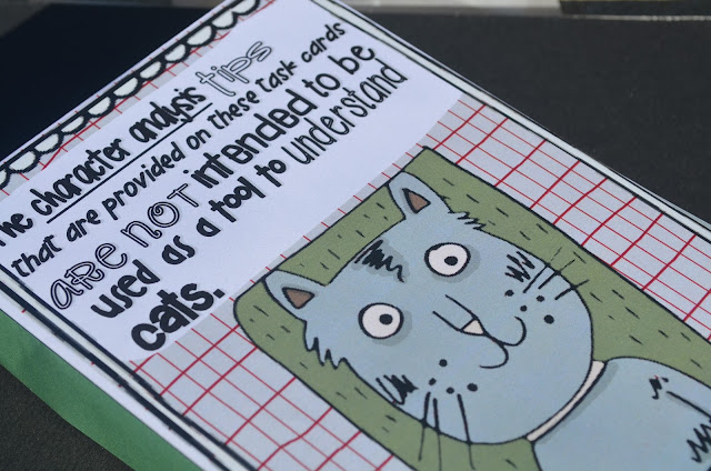 https://www.teacherspayteachers.com/Product/Differentiated-Character-Analysis-Task-Cards-and-Literacy-Centers-427066