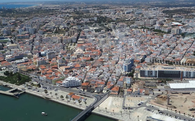 Foto aérea de Portimão – Portugal
