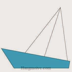 Bước 4: Hoàn thành cách xếp thuyền buồm bằng giấy đơn giản.