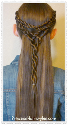 Pretty and easy hairstyle. Tangled twists tie back video tutorial.
