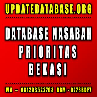 Jual Database Nasabah Prioritas Bekasi