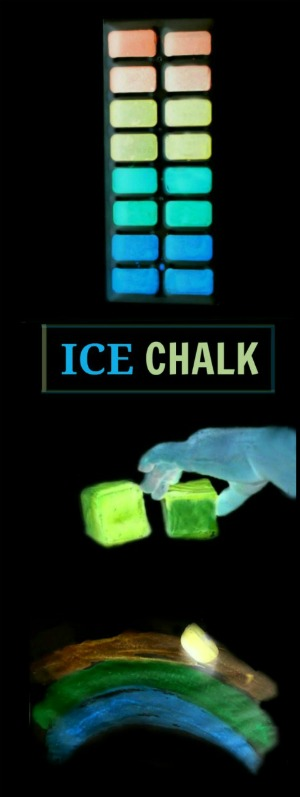 "Summer just got a whole lot ""cooler""! (GLOW-IN-THE-DARK ICE CHALK)"