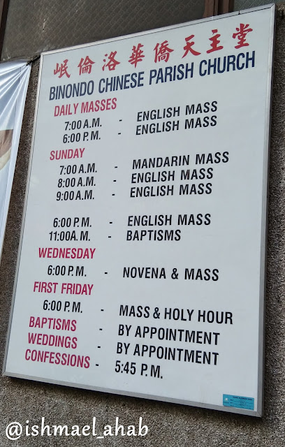 Binondo Chinese Parish Church mass schedule