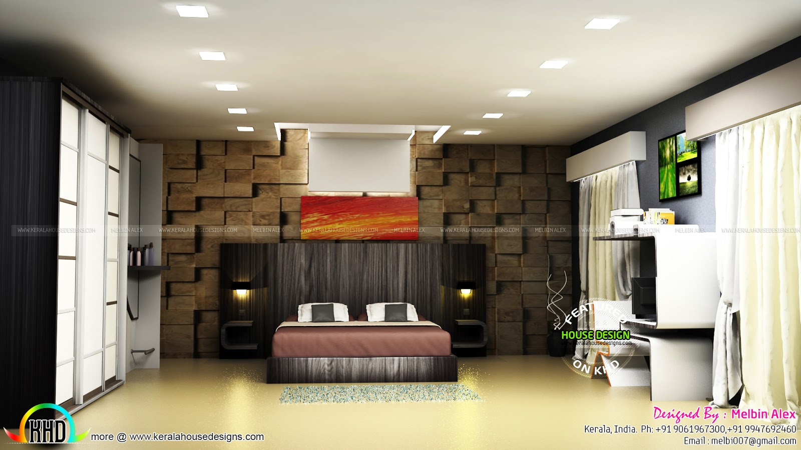 Interior Designs By Melbin Alex Kerala Home Design And Floor Plans