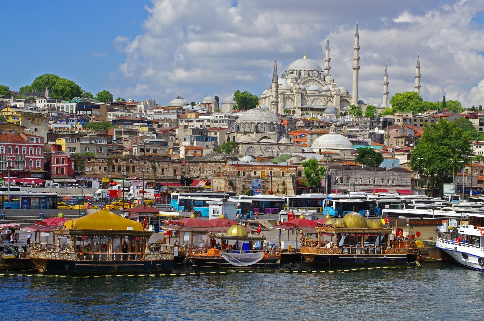 Colours of Istanbul from Bosphorus Strait