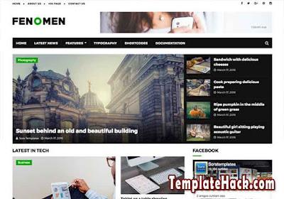 fenomen blogger template