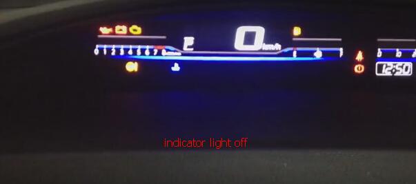 Indicator light off