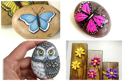 Ideas bonitas para pintar mariposas en piedras for Pintar pared de piedra