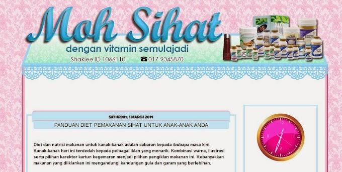 Tempahan Design Blog: Blog Moh Sihat