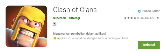 Game Strategi Moba Android Terbaik Clash of Clans