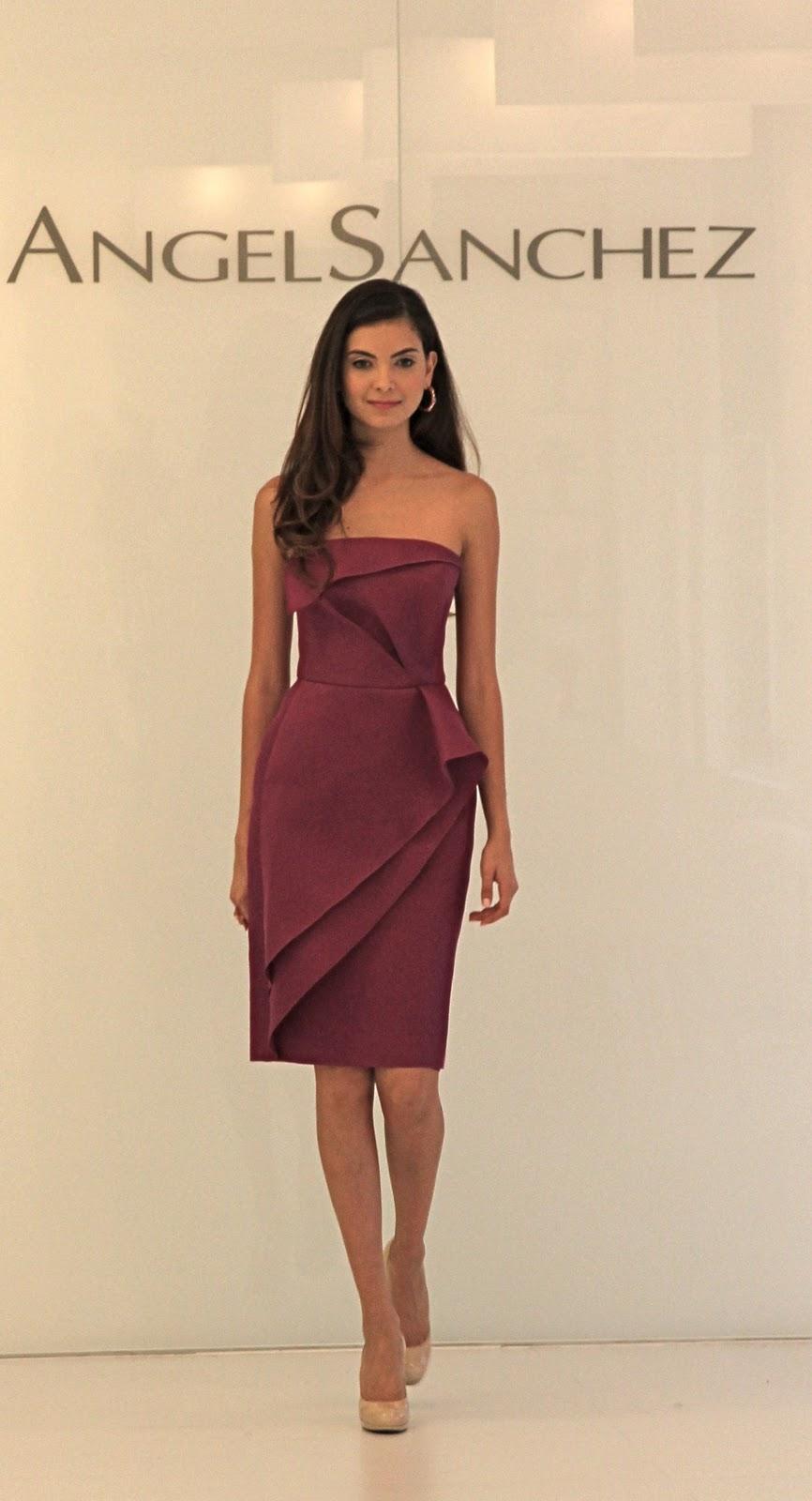 060715ecf magenta trikado cocktail dress