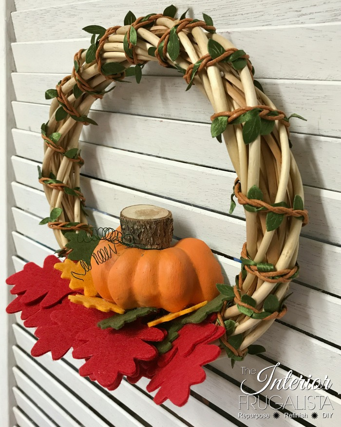 Fall Dollar Store Wreath DIY in 5 Minutes