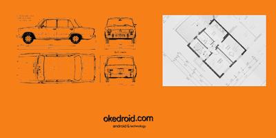 Contoh blueprint desain mobil dan rumah java