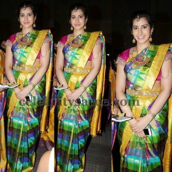 cff82742619a7 Brahmani Stripes Silk Sari - Saree Blouse Patterns