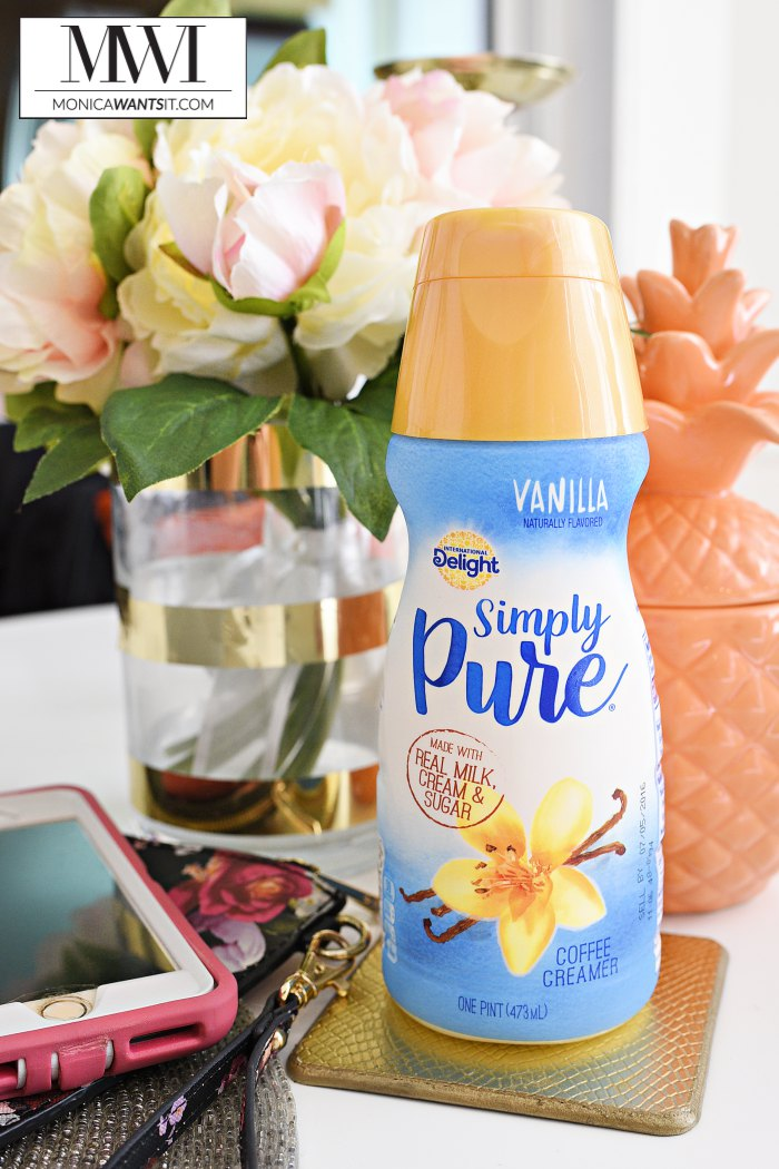 International Delight Simply Pure review with a vanilla latte recipe.
